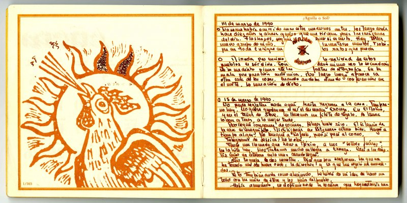 Diary pages, María Luisa Puga Papers