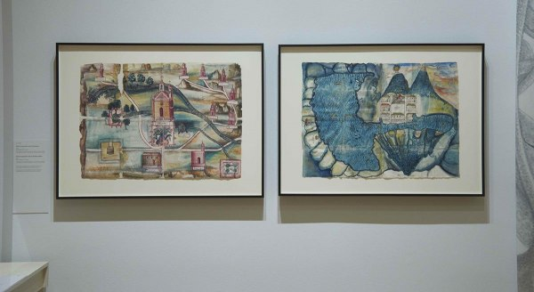 Guaxtepec (left) and Atitlan maps at the Huntington