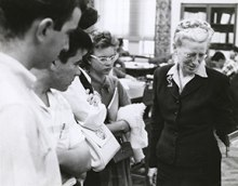 Dr. Nettie Lee Benson and students