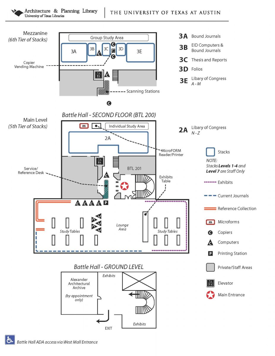 Architecture And Planning Library Map