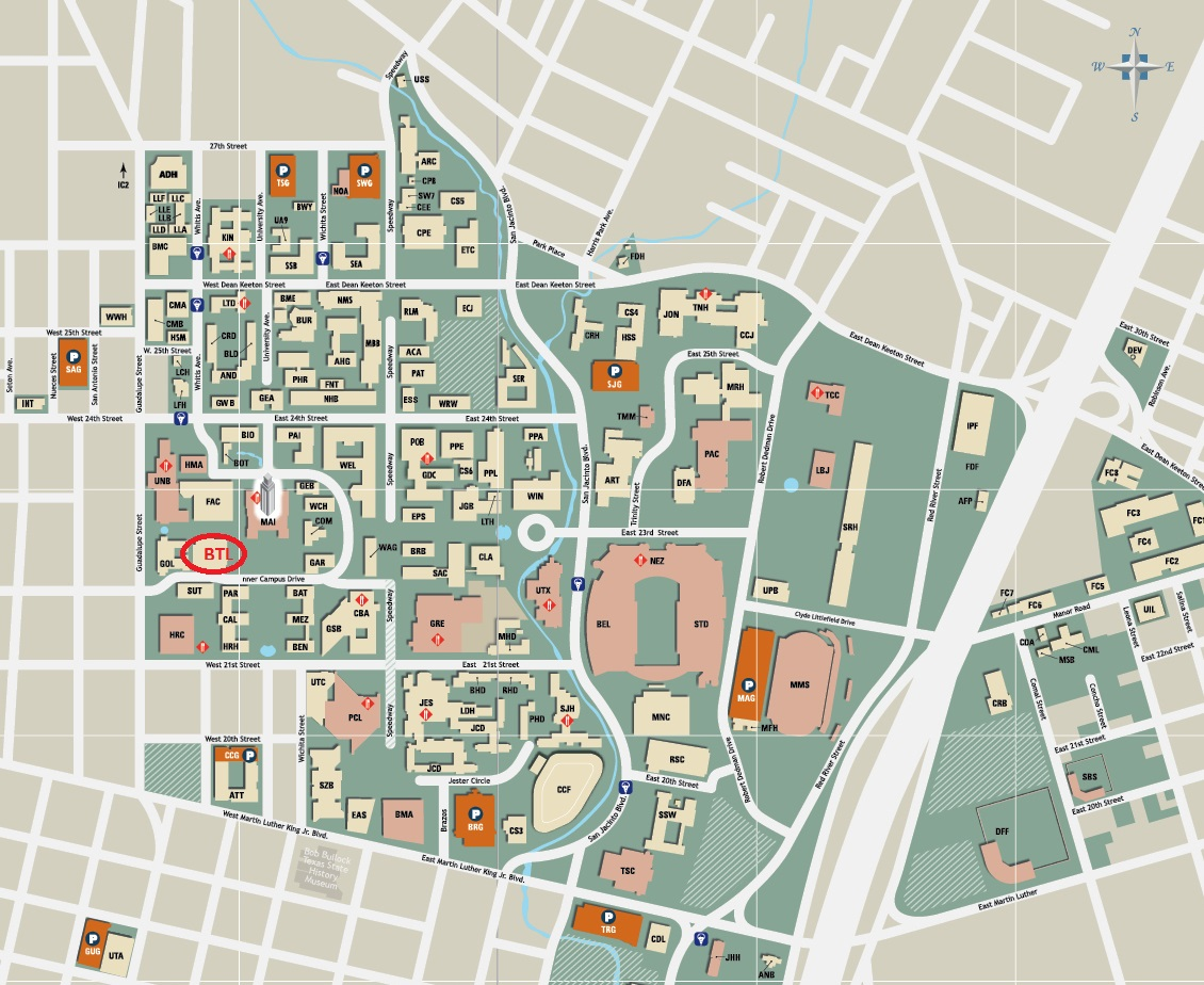 Ut Austin Map About | University of Texas Libraries Ut Austin Map