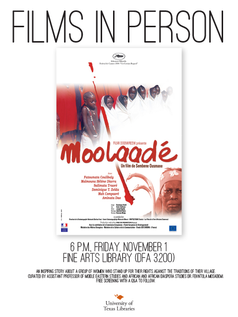 """Films in Person"" films series featuring Moolaade"