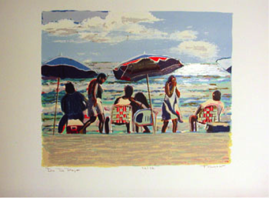 """Día de Playa"" by Chilean painter Pablo Taboada"