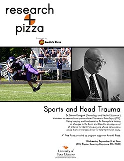 Research + Pizza with Dr. Steven Kornguth poster