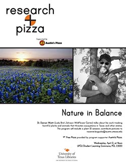 Research + Pizza with Dr. Damon Waitt poster
