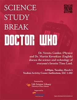 Science Study Break - Dr. Who poster