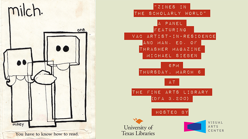 Zines in the Scholarly World poster