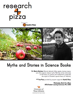 Research + Pizza with Dr. Alberto Martínez poster