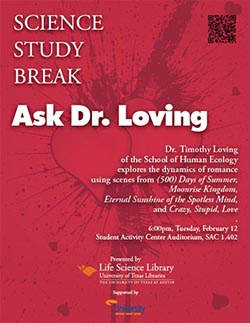 Science Study Break with Dr. Timothy Loving poster