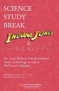 Science Study Break with Dr. Lauri McInnis Martin poster