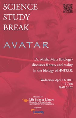 Science Study Break with Dr. Misha Matz poster
