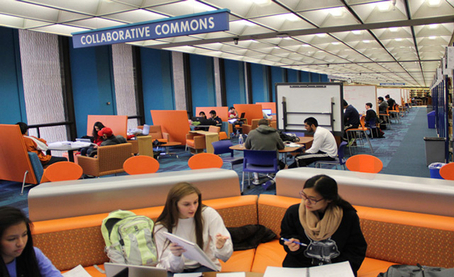Collaborative Commons space after renovations