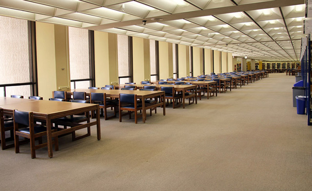 Collaborative Commons space before renovations