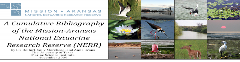 Bibliography of the Mission-Aransas National Estuarine Research Researve (NERR)