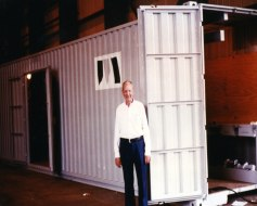 Joe and a shipping container