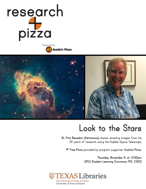 Research+Pizza: Look to the Stars