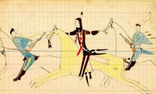 Late 19th century Native American drawing