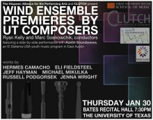 Wind Ensemble Premieres by UT Composers poster