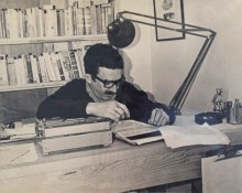 Gabriel García Márquez working on One Hundred Years of Solitude. Image courtesy of Harry Ransom Center.