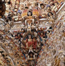 Detail, Santa Maria Tonanzintla, Puebla - photograph by Carolyn Brown