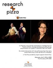 Research + Pizza with Lyn Koenning poster