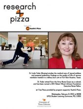 Research + Pizza with Dr. Linda Yoder poster