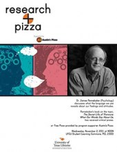 Research + Pizza with Dr. James Pennebaker poster