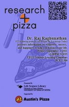 Research + Pizza with Dr. Raj Raghunathan poster