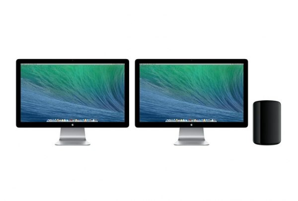 "6 Apple Quad-Core Intel i7 Mac Pros with 2 27"" screens each"